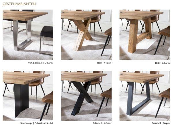 Kattwinkel F4 Tische Gestellvarianten