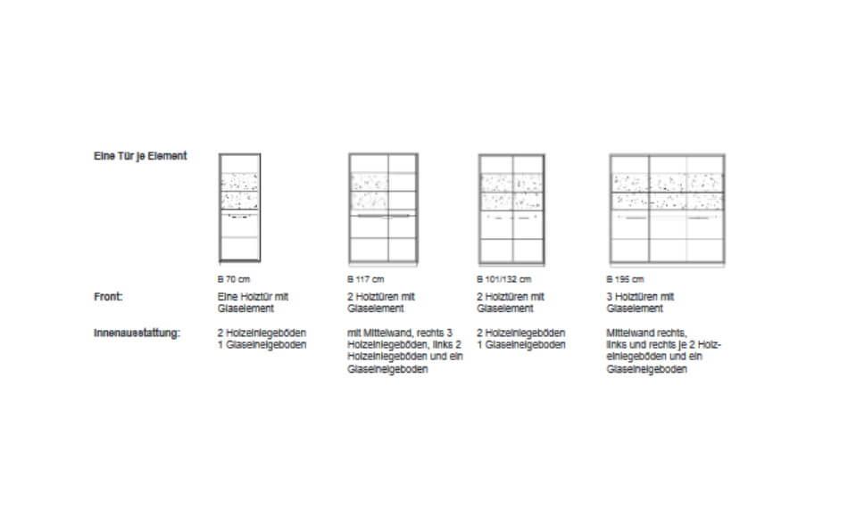 Kattwinkel Massivholzmöbel Linea Glasschrank 2