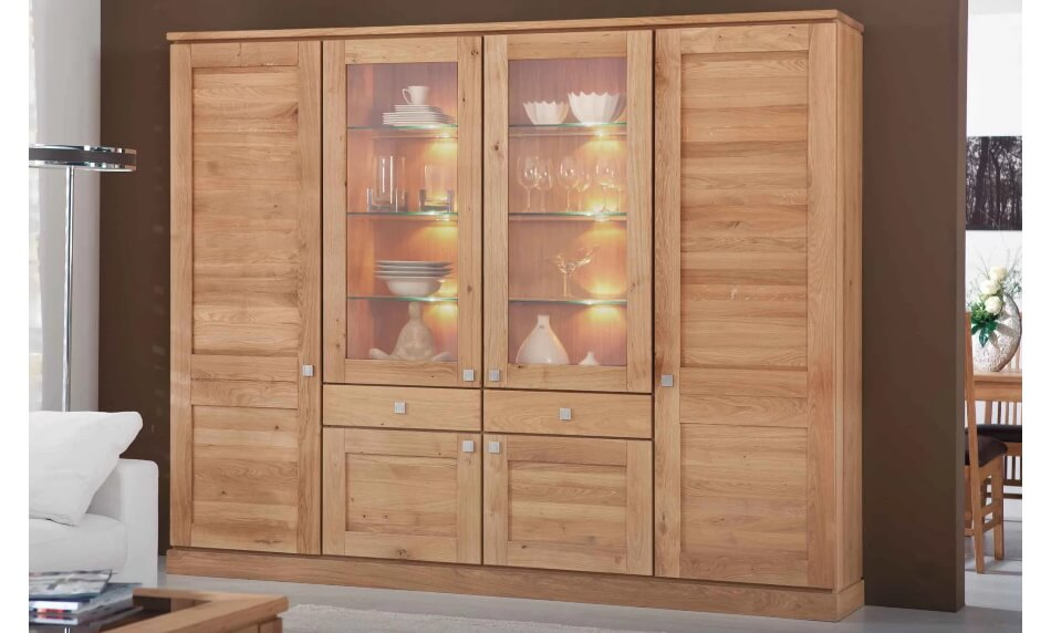 Kattwinkel Massivholzmöbel Madeira Glasschrank 2